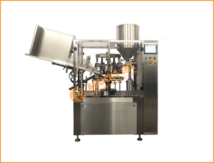 Automatic high speed tube filling & sealing machine