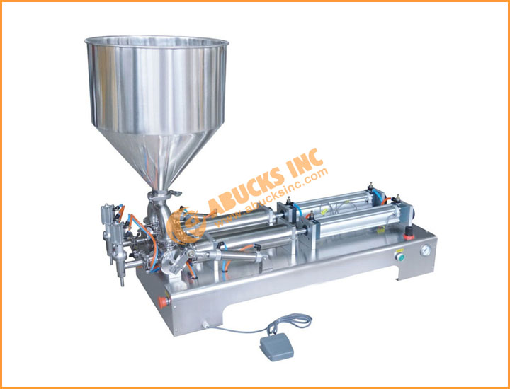 Semiautomatic Pneumatic Liquid and Paste Filling Machine